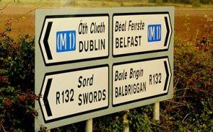 dublin.bfast road sign