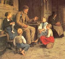 "Albert Samuel Anker ""Grandad tells a story"""